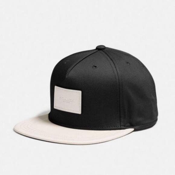 7e07ca9be34 Coach F86475 Men s Flat Brim Hat in Colorblock